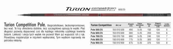 TURION COMPETITION POLE 600/25