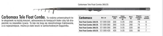 CARBOMAXX TELE FLOAT COMBO 390 5-25g