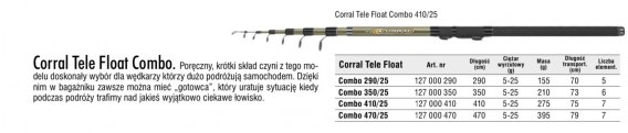 CORRAL TELE FLOAT COMBO 470/25
