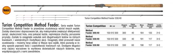 TURION COMPETITION METHOD FEEDER 330/40